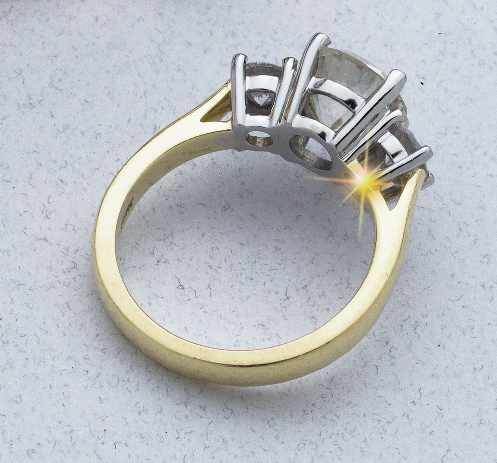 retipping a ring with laser welding