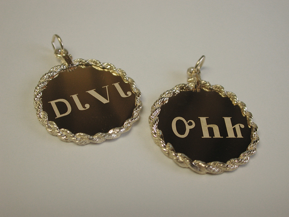 Laser Engraving Earrings