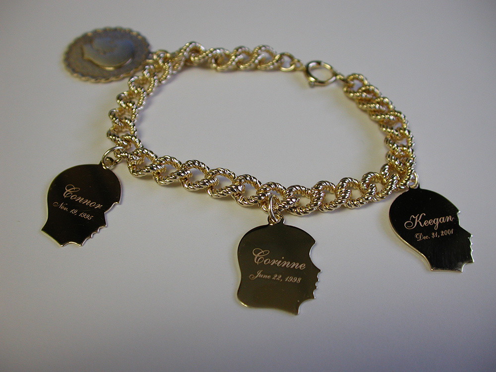 Laser Engraving Charms on a Bracelet