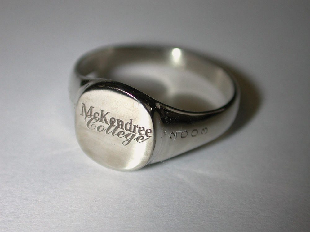 Laser Engraving on Class Ring