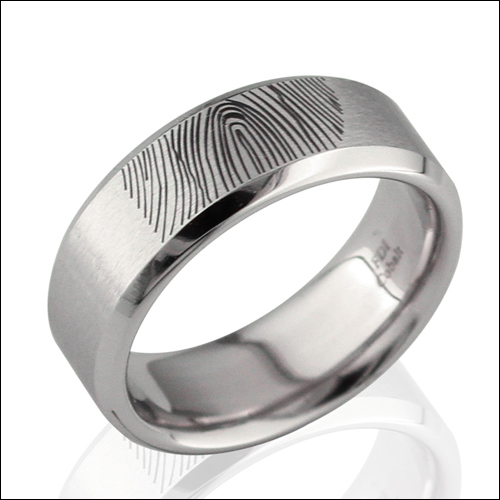Finger Print Ring Laser Engraving