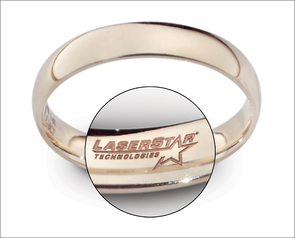 Laser Engraving on the Inside of a Gold Ring