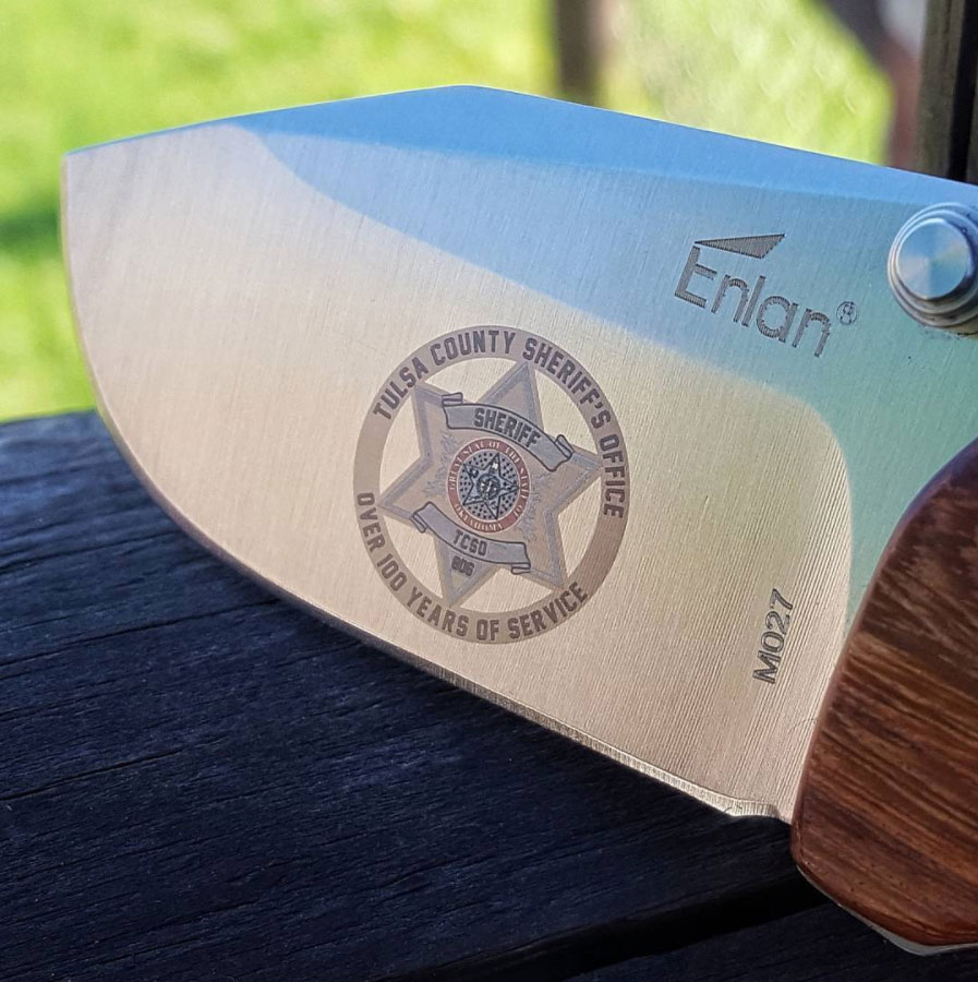 Color Laser Engraved Knife Blade