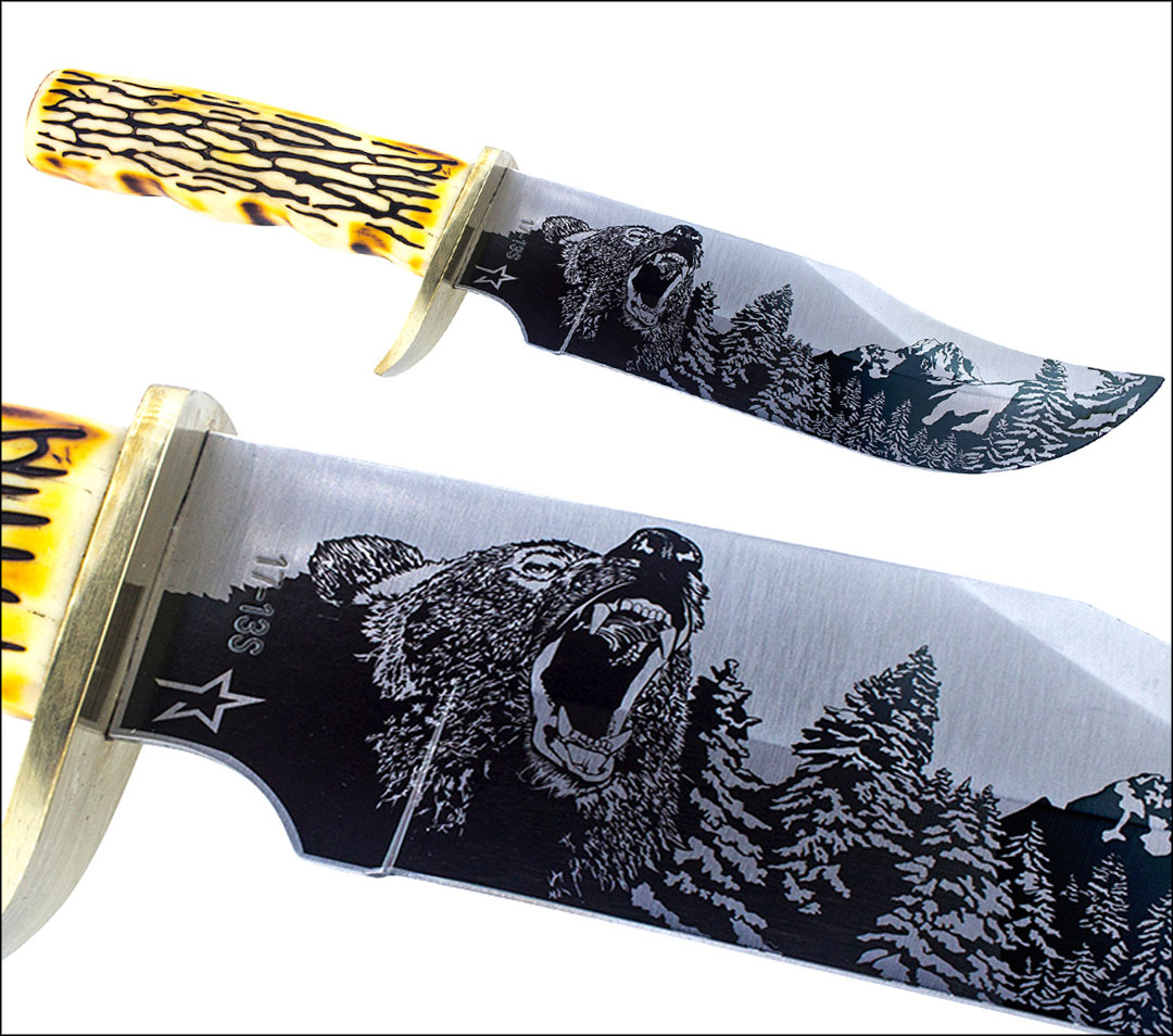 Laser Engraving on a Knife Blade