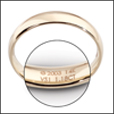 laser engraving, laser engraving the inside of a ring, jewelry laser engraving,  jewelry serialization lasers
